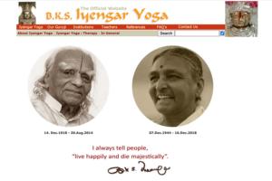 BKS Iyengar Official Website 2
